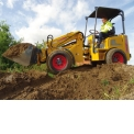 Knikmops wheel loaders - Articulated loaders from 800kg to 2.5T for paving and gardening