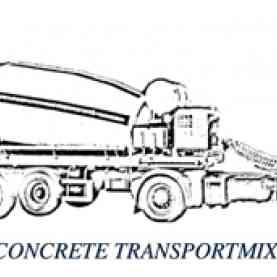 Concrete mixer on trailer or truck