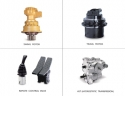 HYDRAULIC DEVICES and PARTS - Travel Motor is 2-speed axial piston motor with easy conversion function. Swing <br /> Motor is axial piston motor with minimized mechanical shock. Control Valve has damping mechanism with high performance. Winch Motor provides high durability against rapid speed and torque changes.