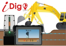 iDig - Precision Excavator Guidance - Lets you carry the Benchmark in the Cab of the machine for Depth, Slope and Distance, accurate to 1 cm. <br />