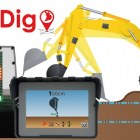 iDig - Precision Excavator Guidance - Lets you carry the Benchmark in the Cab of the machine for Depth, Slope and Distance, accurate to 1 cm. <br /> www.idig-system.com