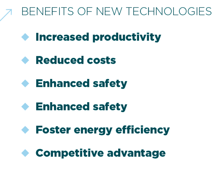 Benefits of the new technologies